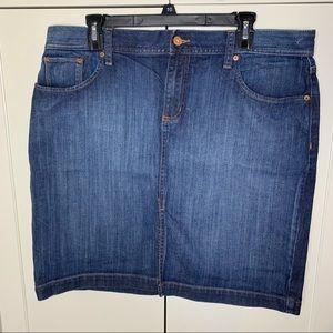 Women's Gap Jeans Straight Denim Skirt
